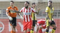 """Great performance by Ergotelis at Pangrition Stadium, Herakion, but a late goal from Costas Mitroglou gave the win to the """"Reds"""" of Piraeus. Sports, Fashion, Self, Hs Sports, Moda, Fashion Styles, Excercise, Fasion, Sport"""
