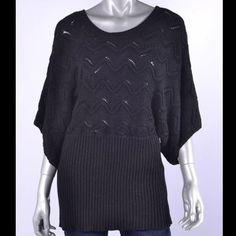 Alfani Batwing Sweater New with tag, size: medium, 3/4 sleeve batwing tunic sweater with metallic thread, material: 56% cotton, 37% acrylic, 5% polyester, 2% metallic. Retail price: $69 Alfani Sweaters