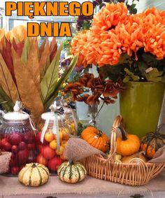 Pumpkin, Table Decorations, Vegetables, Pictures, Home Decor, Beautiful Things, Autumn, Funny, Polish