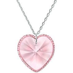 Swarovski Necklace, Rose Reverie Heart Pendant, found on polyvore.com