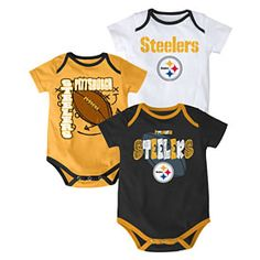 Get this Pittsburgh Steelers Newborn 3-Pack Team Creepers at  ThePittsburghFan.com Seattle Seahawks 1a56a21e6