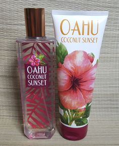 bath and body works Oahu coconut sunset body cream and fine fragrance mist #ebay #deals #fragrance #giftideas #makeup #beauty