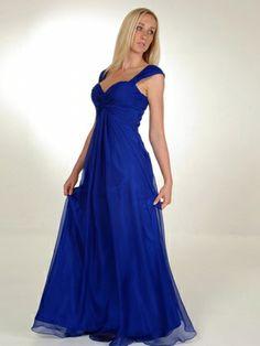 A-line Queen-anne Chiffon Floor-length Sleeveless Pleats Formal Dresses