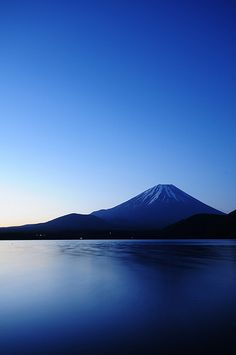 Mt.FUJI Blue Moment, Japan Imagine you and yours taking a early morning boat ride with this in the background. Beautiful! 800 7Classy or www.GoClassy.com