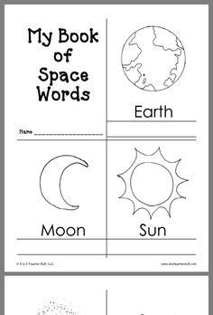Space Theme Preschool, Space Activities For Kids, Space Crafts For Kids, Preschool Science, Kindergarten Worksheets, Science For Kids, Preschool Learning, Planets Preschool, Teaching