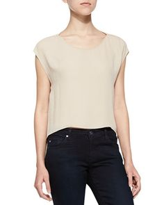 Cap-Sleeve Top with Cutout Back by Alice + Olivia at Neiman Marcus.