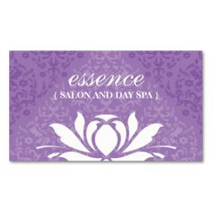 Damask Day Spa Business Cards