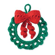 Cedar Lodge Wreath Ornament  pattern by Marie Reyes