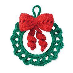 Cedar Lodge Wreath Ornament  pattern by Marie Reyes Tutorial ✿⊱╮Teresa Restegui http://www.pinterest.com/teretegui/✿⊱╮