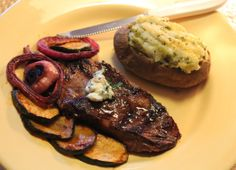 Grilled steak and vegetables, a meal your family will love.