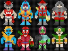 Lair of the Dork Horde: Lite Brite Brutes Lite Brite, Perler Bead Art, Perler Beads, Stitch Character, Vintage Cartoon, Animated Cartoons, Bead Crafts, Beading Patterns, Pattern Design