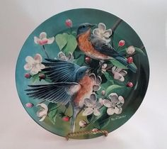 """Knowles Birds of Your Garden Collection- """"The Bluebird""""  Artist Kevin Daniel"""