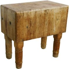 Huge 18th Century French Butcher Block Table w/ Wooden Legs