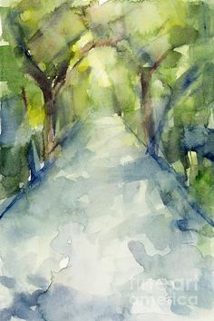 Path Conservatory Garden Central Park Watercolor Painting - Beverly Brown Prints