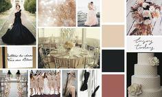 """Pour assortir un faire-part comme """"Noir sur blanc"""", ajoutez un rose pâle et un rose poudré. Effet romantique assuré !"""