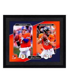 Look at this Denver Broncos John Elway & Peyton Manning Legacy Wall Art on today! Denver Broncos Football, John Elway, Peyton Manning, Baseball Cards, Wall Art, Athletes, Man Cave, Frame, Portrait