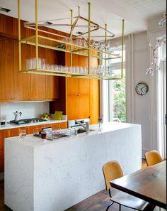 Brooklyn Modern Kitchen Hanging Shelvesgl Shelveshanging