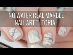 Real White Marble Nail Art Tutorial | NO WATER Involved! | The Nailasaurus - YouTube