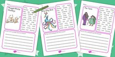 The Twits Character Description Writing Frame - character, frame Character Description Examples, Description Writing, Roald Dahl Activities, Book Activities, Roald Dahl Books, The Twits, English Short Stories, Writing Words, Writing Ideas