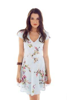 Ariana Cherry Blossom Print Dress #cherryblossom #ariana www.arianadresses.com