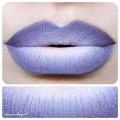 """""""@limecrimemakeup requested a close up of these lavender ombre lips ✖✖ Products; Ribbonesque Eyeshadow by @limecrimemakeup .. Milk Jumbo Pencil by…"""""""