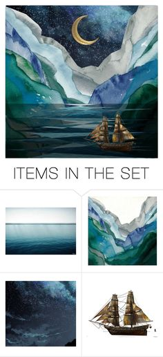 """""""Sail on the Rising Tide"""" by ladomna ❤ liked on Polyvore featuring art and artflashmob1"""