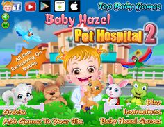 Injured and sick pets in Baby Hazel's town needs an urgent medical treatment. Be a vet to these adorable pets and assist Hazel in treating them with care http://www.topbabygames.com/baby-hazel-pet-hospital-2.html