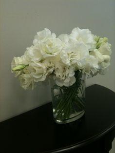 White lisianthus.