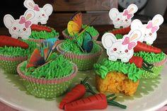 Wielkanocny zestaw dekoracyjny na muffiny, jadalne motyle, masa Deco Choc i taaaki widok:-)   Zaczerpnięte od Sally's bunte Torten- & Bilderwelt