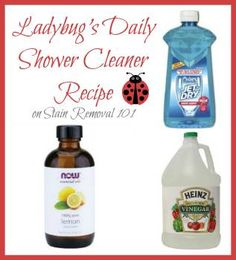 Read several homemade shower cleaner recipes for daily or periodic uses, including recipes to clean glass shower doors of hard water and soap scum buildup naturally.