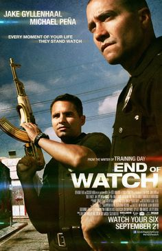 End of Watch -- From the writer of Training Day comes a riveting cop drama starring Jake Gyllenhaal and Michael Peña who must deal with the violent backlash after exposing members of a drug cartel.
