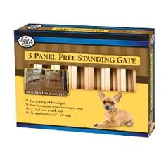 Four Paws 3-Panel Free-Standing Walk-Over 64-Inch-by-17-Inch Wood Gate