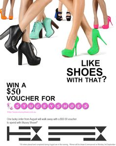 Want to win shoes??    www.hexeffex.com.au