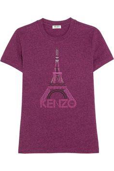 KENZO|T-shirt en jersey de coton imprimé