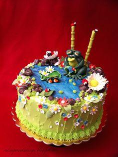 SPRING FROGS POND CAKE- by Red Carpet Cake Design®