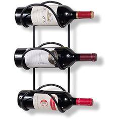 Wallniture Wrought Iron Wine Rack 3 Sectional – Wall Mount Bottle Storage Display Black - Easy to use and well made. Wine Bottle Rack, Wine Glass Rack, Bottle Wall, Wine Rack Wall, Wine Rack For Towels, Towel Racks, Wooden Magazine Rack, Magazine Racks, Iron Wine Rack