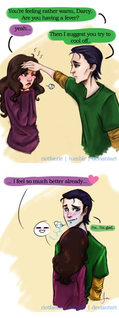 -Loki x Darcy - Cooling Off by ~RiotFaerie on deviantART-
