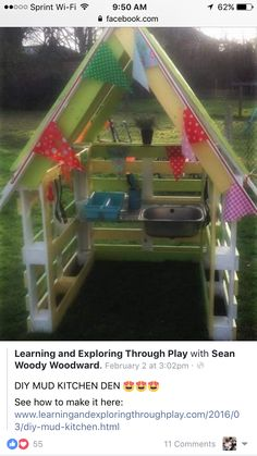 Learning and Exploring Through Play: DIY Mud Kitchen. Learning and Exploring Through Play: DIY Mud Kitchen. Kids Outdoor Play, Outdoor Play Spaces, Backyard For Kids, Outdoor Fun, Diy For Kids, Garden Kids, Diy Garden Toys, Outdoor Play Kitchen, Diy Outdoor Toys