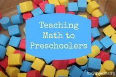 Teaching Math to Preschoolers. This makes it fun!