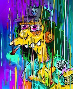 Otto Mann – Graffiti World Graffiti Wallpaper, Trippy Wallpaper, Cartoon Wallpaper, Trippy Cartoon, Dope Cartoon Art, Simpsons Drawings, Simpsons Art, Simpson Wallpaper Iphone, Acid Art