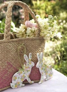 """Floral"" Easter Bunnies, so cute~❥"