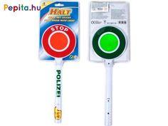 Irányítsd az autókat, bicikliseket rendőrtárcsával! A Világító forgalomirányító tárcsa egy kerek műanyag tábla, piros és zöld oldalakkal. A tárcsa fényvisszaverő felülettel készült, de ha megnyomod rajta a gombot, még világítani is fog, hogy a közlekedők messziről is láthassák, hogy meg kell állniuk, vagy haladhatnak.     Jellemzői:  - 2 db AA ceruzaelemmel működik (csomag tartalmazza)  - Méretei: 32 x 12 cm Google Chrome, Tech Logos, School, Products, Gadget