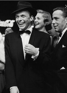 The one and only Frank Sinatra. Rumor has it that Bogie was the one who coined the term The Rat Pack.