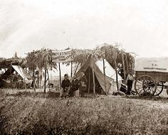 Here we present a rare image of Germantown, Virginia  Headquarters of the U.S. Christian Commission.  It was taken in 1863