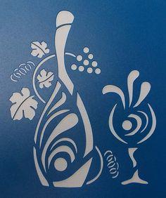 Wine Lovers Delight Stencil