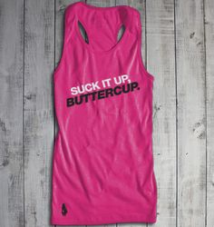 Suck It Up, Buttercup Active Tank - Pink/Black - Gymdoll - Fitness Fashion and Motivational Workout Clothes for Women