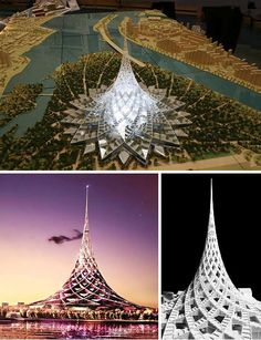 Crystal Island is another giga-project that, though granted planning approval… Concept Models Architecture, Modern Architecture House, Futuristic Architecture, Amazing Architecture, Landscape Architecture, Architecture Design, New Urbanism, Future Buildings, Futuristic City