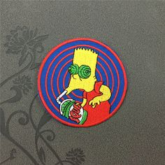 The Simpsons Patch Cartoon patch Embroidered Iron On Patches sew on patches iron on appliques
