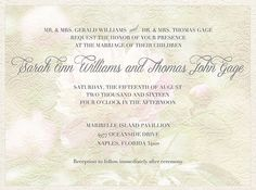 Elegant Wedding Invitation  Floral  by WillowRoadDesign on Etsy