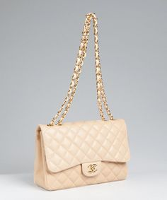 55a89b1b39 Chanel buttermilk quilted leather  Classic  shoulder bag Quilted Shoulder  Bags